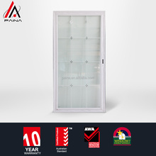 finely processed frosted glass bathroom door