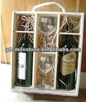 Good quality wooden gift boxes for wine glasses