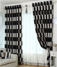 bedroom blackout black velvet bay window drapes