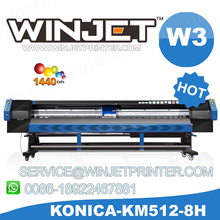 Best flex printing machine price konica minolta 512i print head inkjet plotter winjet t8q solvent printer