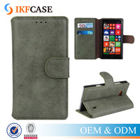 Luxury Matte Frosted Flip Leather Stand Case with Card Holder For Nokia Lumia 930