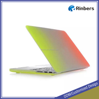 "Rainbow laptop rubberized hard case cover shell for Macbook Retina 12"" china supplier"