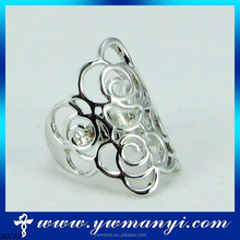 Wholesale alloy material flower shape wide fancy big ring made in China R153