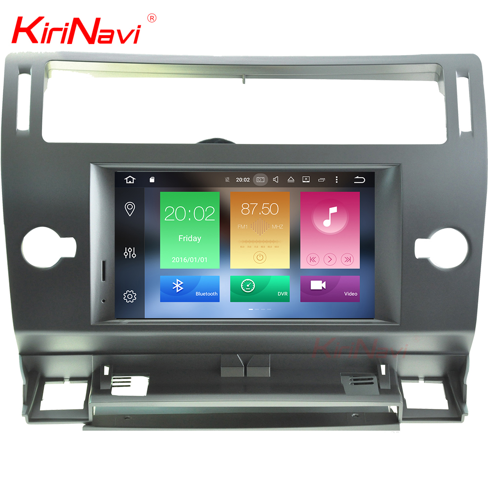 KiriNavi WC-CT7804 8 core android 6.0 stereo for CITROEN C4 car navigation system 2004 - 2012 gps BT 3g TV