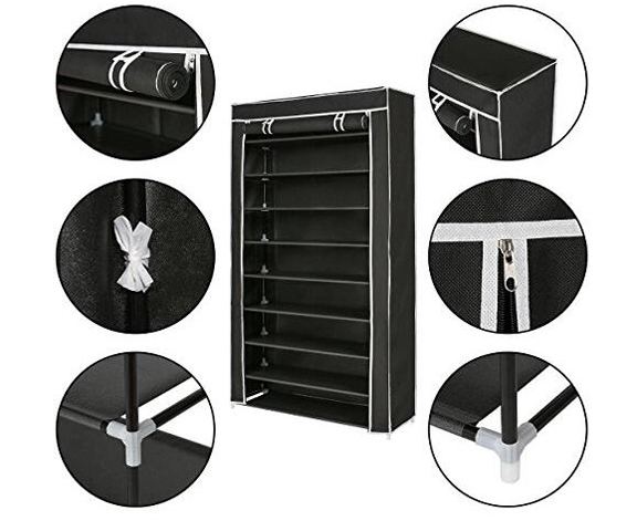 Non-woven shoe rack custom made kids luxury smart shoe cabinet