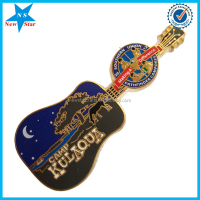 High quality hard enamel guitar badge