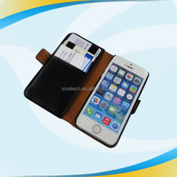 Wallet Stand Hybrid Leather Bags blank sublimation leather phone case for iphone 5