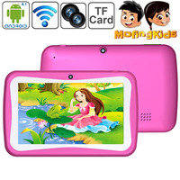 Wholesale M755 7 inch Capacitive Touch Screen Android 5.1 Kids Tablet PC with WIFI, Dual Cameras, 512MB RAM + 8GB ROM(Magenta)