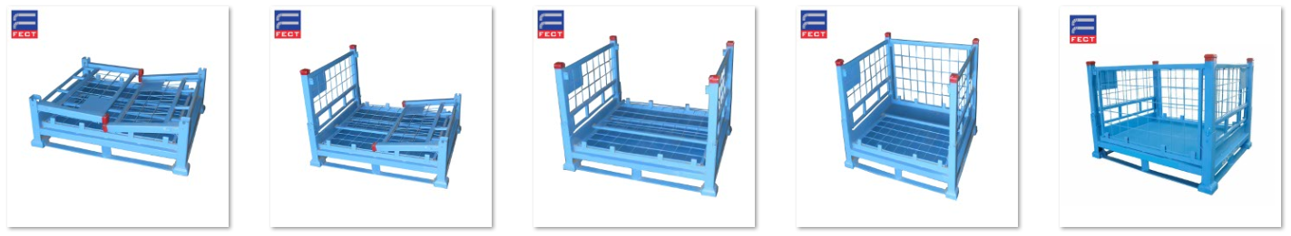 Steel Box Pallet For Auto Parts Storage,Transport Pallet For Glass