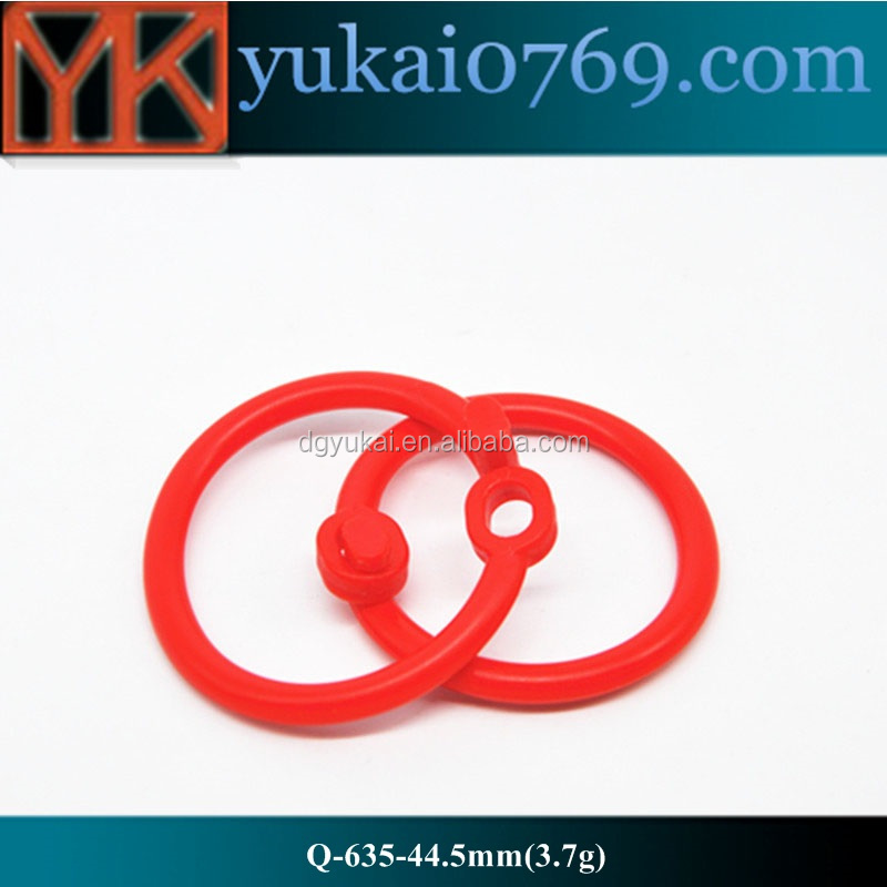 Yukai Plastic red spring closure rings