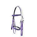 Flexible pvc webbing horse riding bridles and reins sets with single noseband