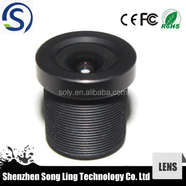 "4 Photos 2.1mm CCTV Board Lens 1/3"" F2.0 for Security Camera 150 Degree Wide Angle View"