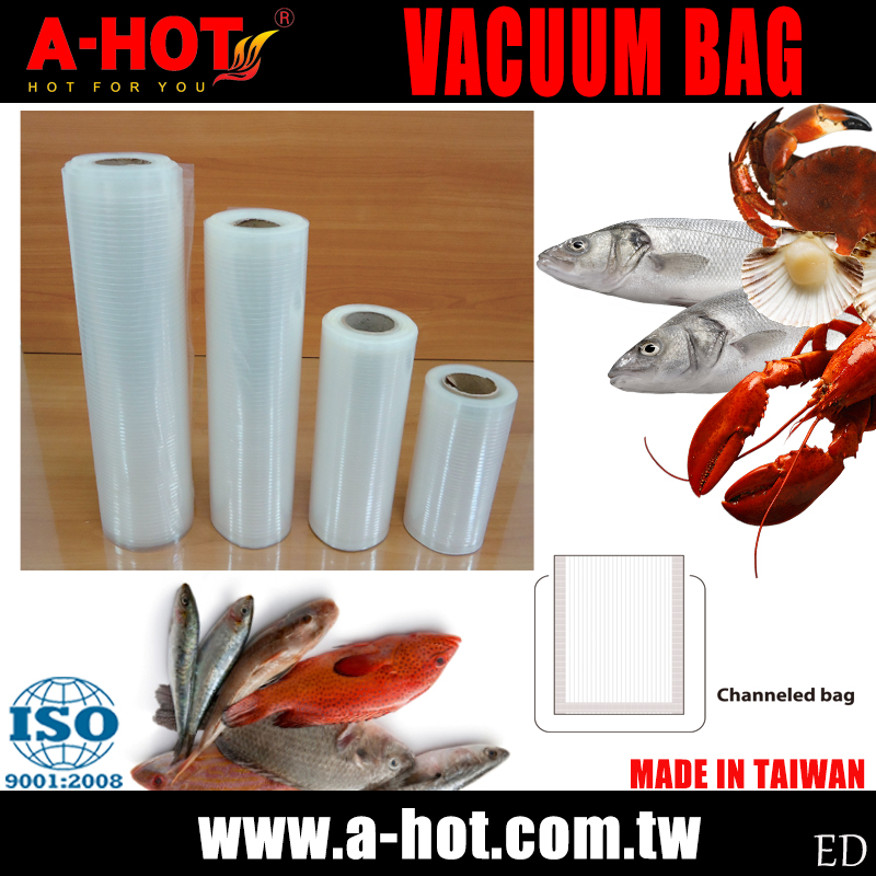 Household Food Storage Saver Vacuum Sealer Embossed Roll Bag