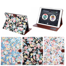 Hot selling flower Leopard Folio Leather Case for iPad Pro,for iPad pro cover new