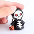 Custom hot cute skull led light scary sound keyring keychain custom sound effect keychain