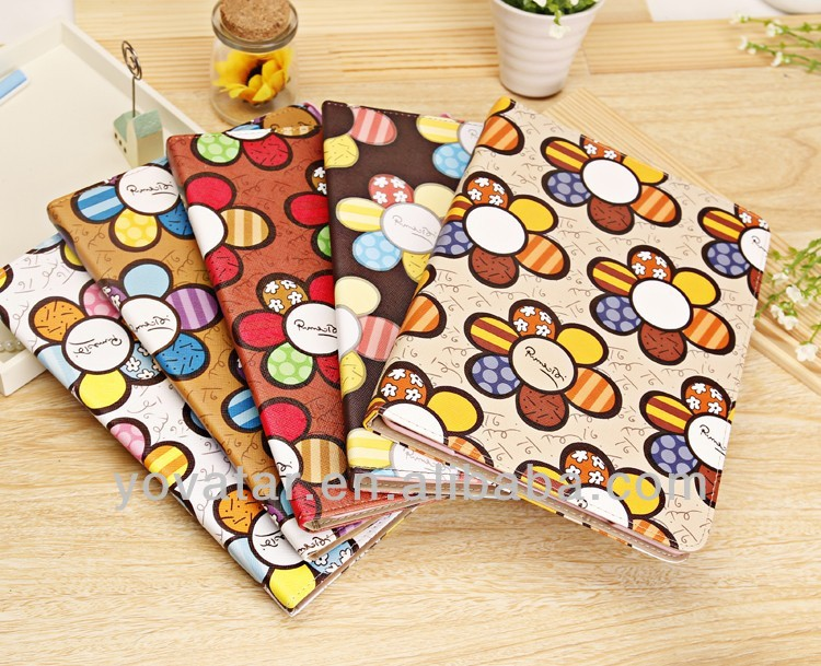 For iPad Air case Sun Flower Folio Flip Leather Sleep Stand Smart Case Cover For iPad 5 iPad Air
