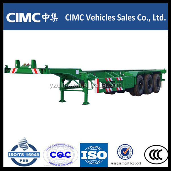 20ft and 40 ft container transportation two axles and three axles skeletal semi trailer