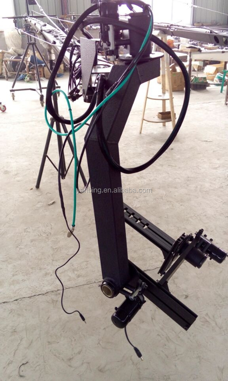 Professional TV film jimmy jib camera crane for sale 6m 3-axis with motorized dutch head