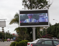 Free solar powered traffic led display screen, red/blue/green/amber/full color led screen