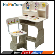 Kids study table and chair wood children table