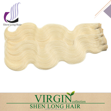 high quality 8a hair 100% virgin human sew in human hair extensions blonde