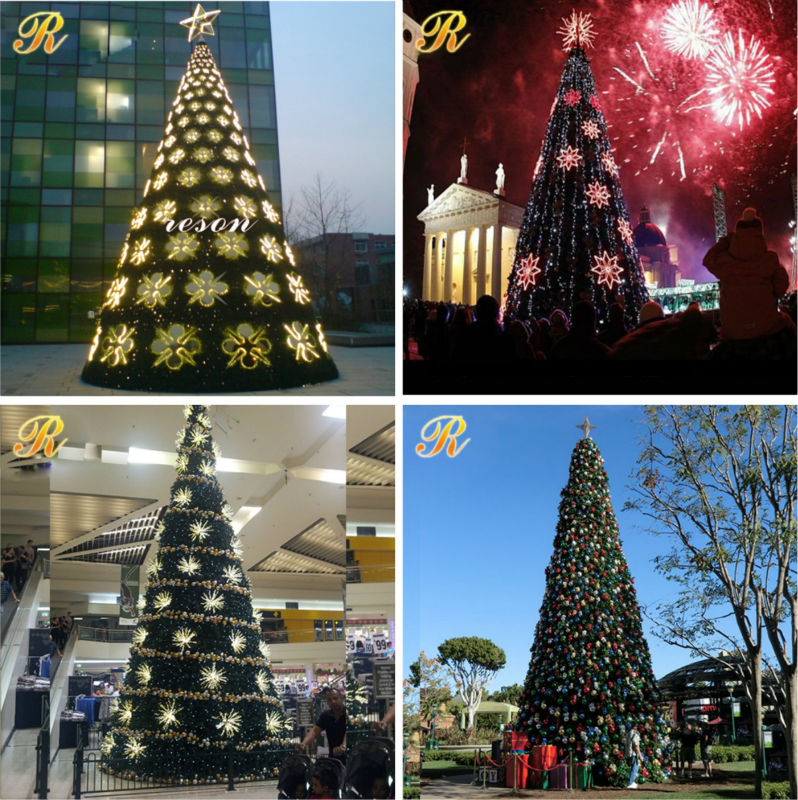 Outdoor big PVC artificial giant christmas tree