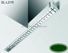 SL-L21R Newly design linear fluorescent light fixtures for office,modern recessed grid fluorescent light fixtures