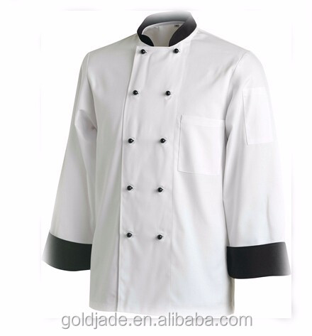 unisex long and short sleeve chef coat Chef coat waiter uniform western modern restaurant uniforms