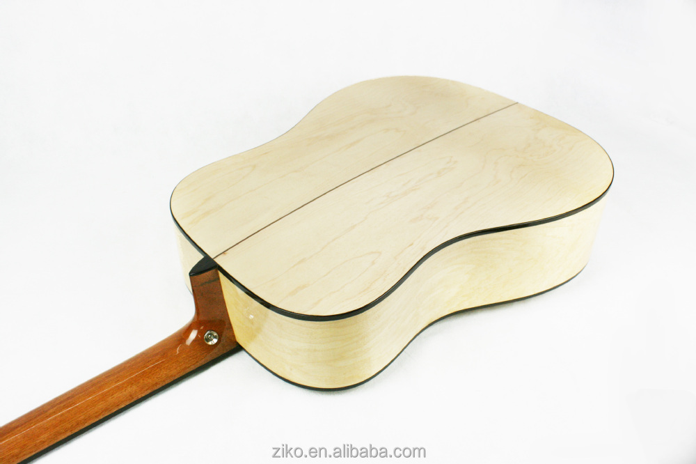 Music instrument handcrafted spruce acoustic guitar