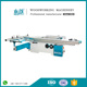 Precision sliding table panel saw machine with 45 degree tiling