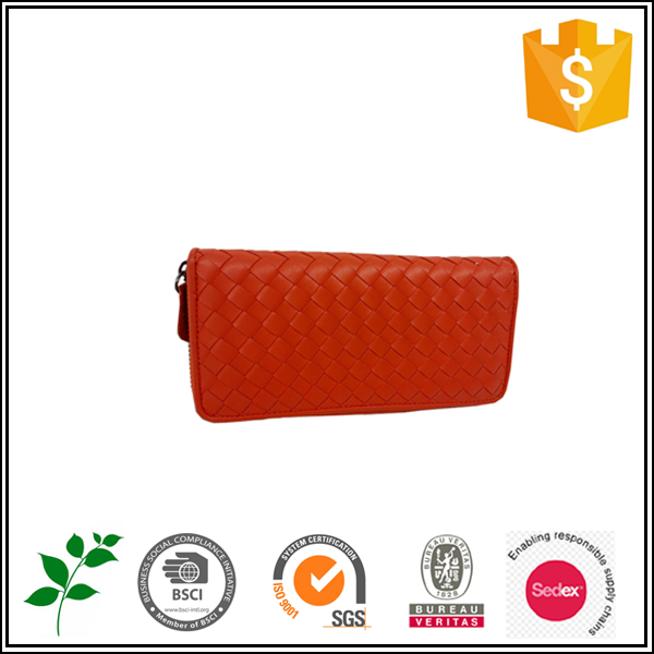 BSCI audited factory 2015 pu red fashion simple daily excellent quality OEM/ODM lady purse
