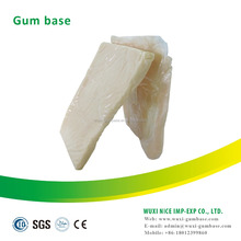 Slab Shape Chewing Gum Base For Making Chewing Gums