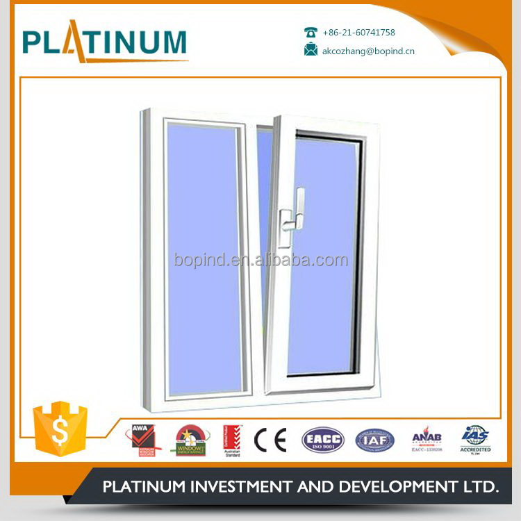 Processing customized hot sale tilt and turn beveled glass windows