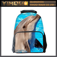 Picture of lovely dolphin school bag for girls