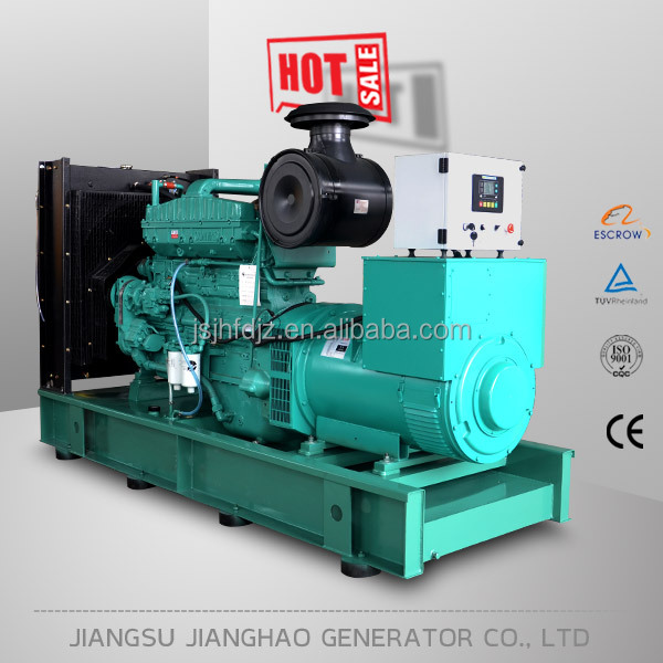 china supplier open type 500kva generator with cummins KTA19-G3A