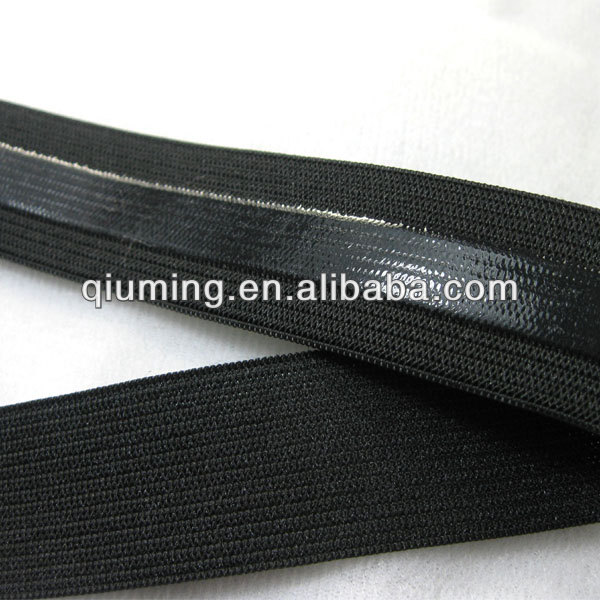 Folding over 2 inch silicone elastic webbing