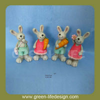Colorful desktop terracotta Easter bunny