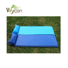 Self inflatable air bed mattress for beach camping sleeping pad with pillow