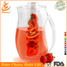 Hot Sale! 93 oz single wall fruit infuser water pitcher with custom logo design