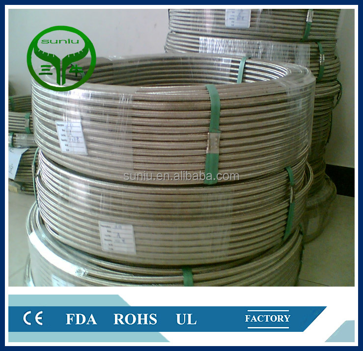flexible teflon <strong>hose</strong>/PTFE lined braided <strong>hose</strong>/ suniu china