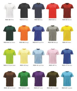 Custom HJTS114 cotton t shirt printing wholesale mens t shirt with your printing embroider logo