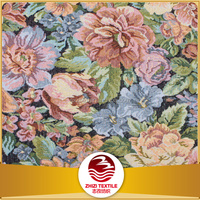 Burnout flower design for sofa cushion cover floral printed fabric