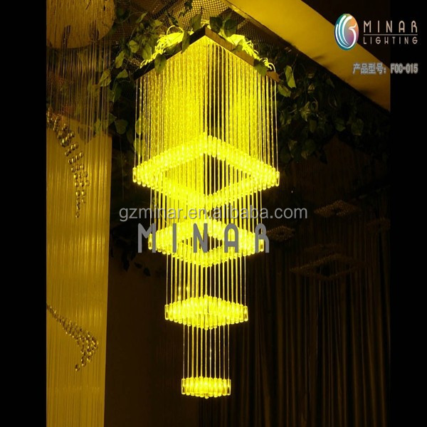 2M 220 volt fiber optic manufacturing chandelier ceiling lamp for bedrooms