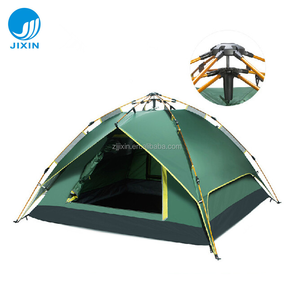 Outdoor double layer family camping tent for hiking