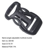 Plastic side release buckle for bag and belt SB106