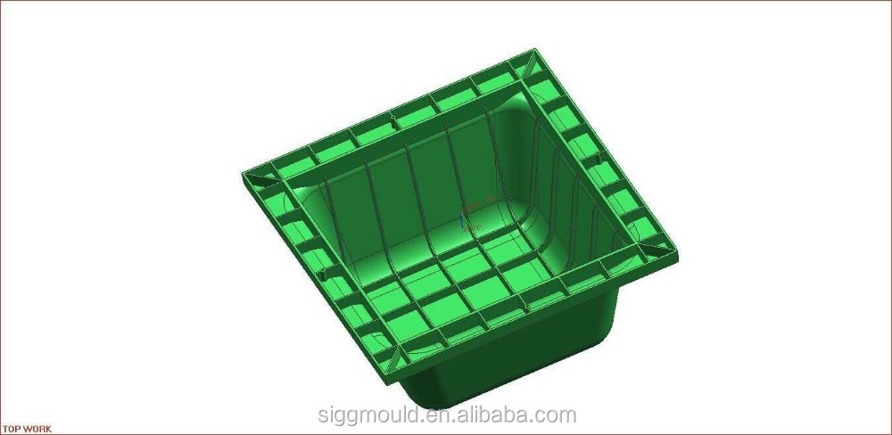 customize building material plastic formwork for building construction ABS waffle slab form injection mould