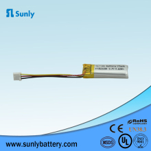 Lipo 601230 3.7v 170mah Li-polymer Rechargeable lipo battery for E-book with UL certification
