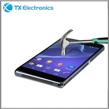 2015 new product tempered glass screen protector for sony xperia z2
