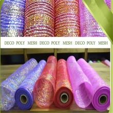 New product red color plastic ribbon wrapping flower net accessories