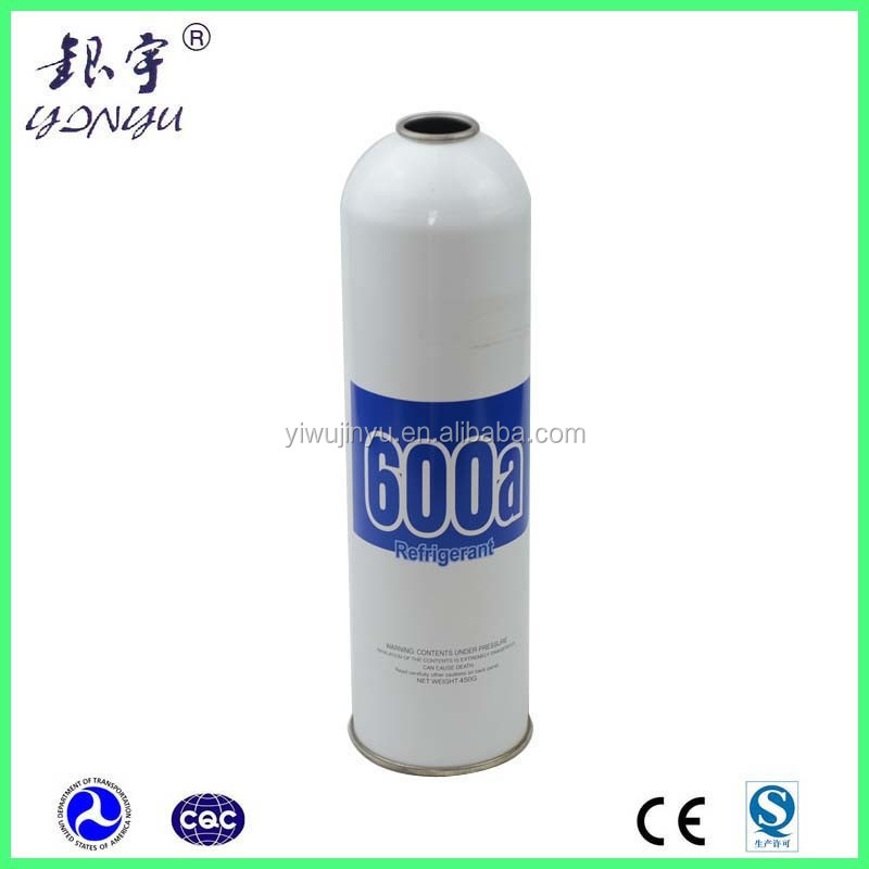 aerosol spray can for auto refrigerant gas r600a / iso-butane refrigerant r600 gas